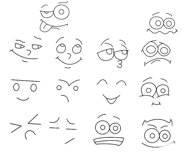 表情 人物表情简笔画图片大全 12张 表情图片 表白句 表情