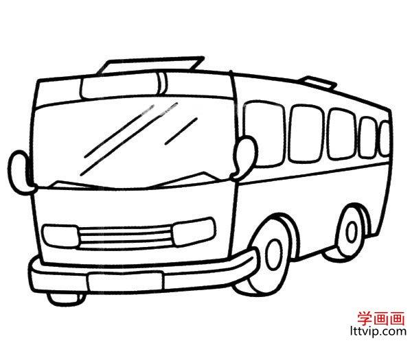 表情 公共汽车简笔画的简单画法 学画画 表情