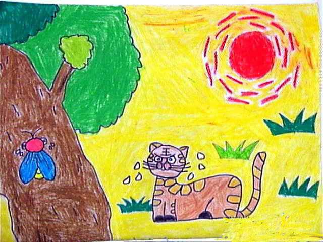 表情 炎热的太阳公公简笔画 炎热的太阳公公图片欣赏 炎热的太阳公公儿童画画  表情