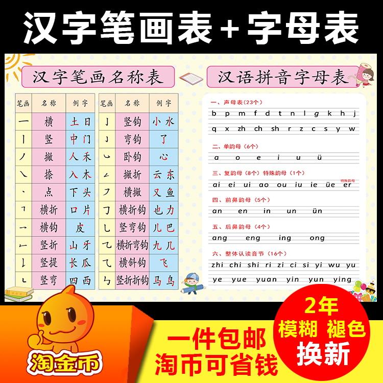汉字笔画表+字母表 汉语拼音字母表 汉字笔画名称表 笔画 名称|例字||