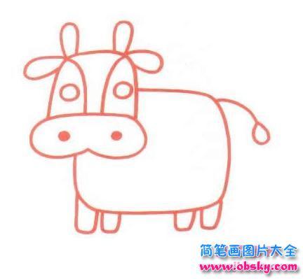 表情 卡通牛简笔画 简笔画小牛 儿童简笔画图片大全 表情