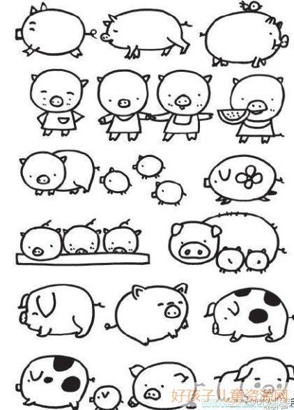 表情 奔跑的马简笔画简单线条画画法 动物简笔画 表情