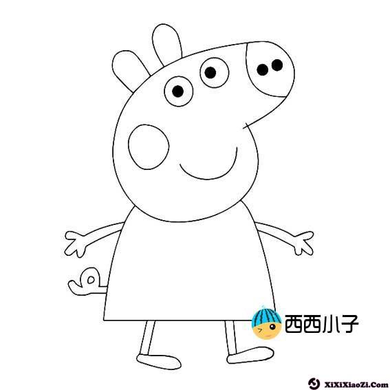 表情 怎样画小猪佩奇简笔画 粉红猪小妹简笔画图片 格格 表情