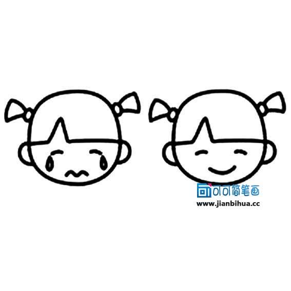 表情 幼儿脸部简笔画 2 可可 表情图片
