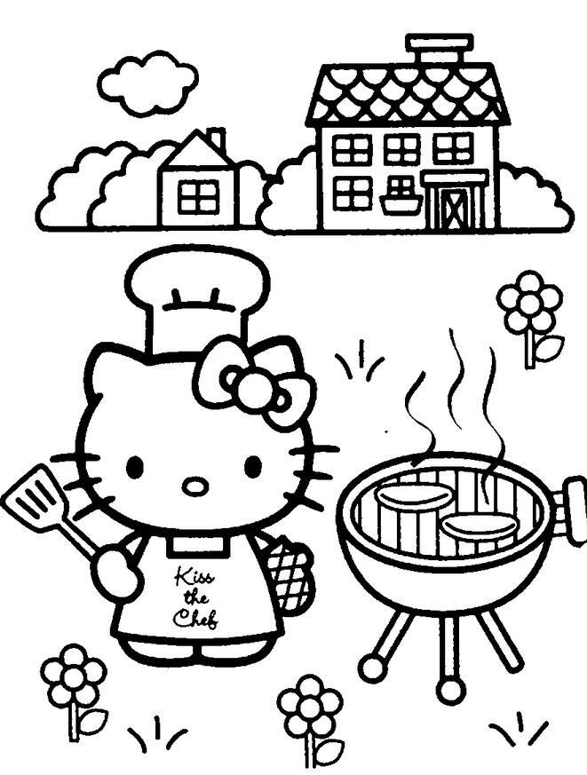 表情 爱劳动的凯蒂猫有关劳动节的简笔画欣赏 5068儿童网 表情