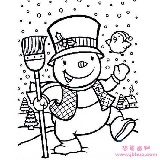 表情 儿童卡通人物简笔画 雪人 简笔画网 表情