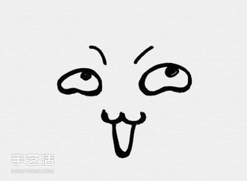 表情 卡通风格表情简笔画简笔画搞怪表情的画法 手艺活网 表情