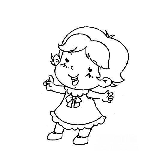 表情 简笔画人物图片 开心的小女孩 开心的小女孩简笔画人物简笔画 小鸭子  表情图片
