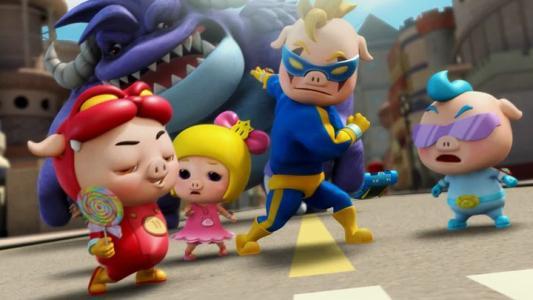 猪猪电影下载 猪猪侠之古老五灵锁 猪猪侠菲菲公主 猪猪侠之竞球小