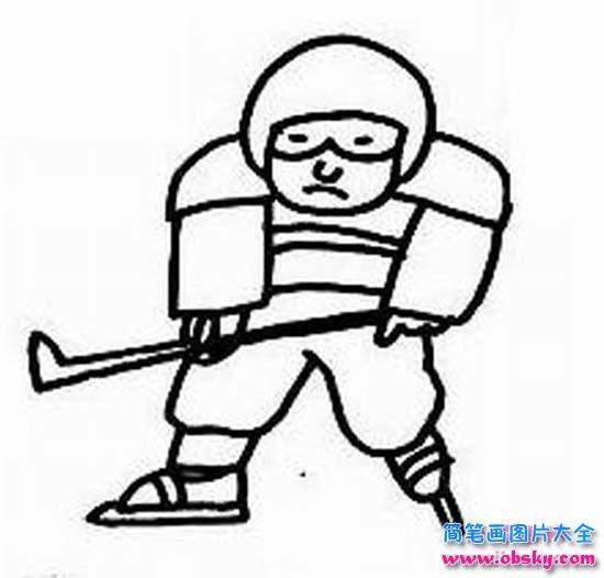 表情 打冰球的男孩简笔画 小男孩 儿童简笔画图片大全 表情