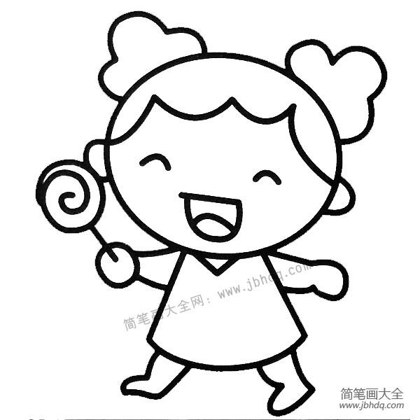 表情 吃糖表情简笔画 吃糖表情简笔画画法 表情