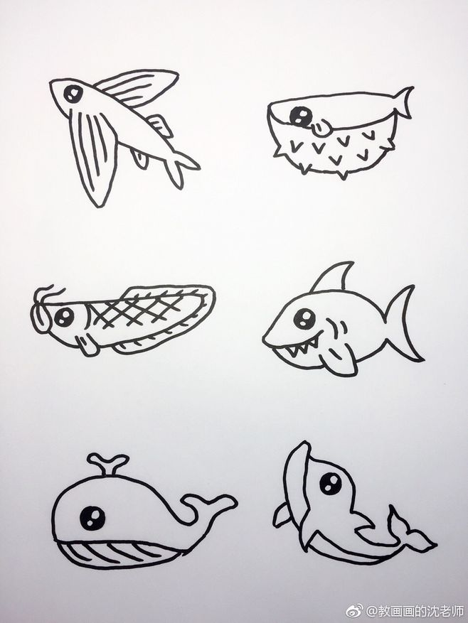 表情 海底世界大海小鱼珊瑚简笔画 作者 教画画的沈老师 表情