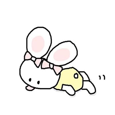 表情 可爱激萌简笔画小兔子微信头像合集下载 简约唯美简笔画小兔子头像合集  表情