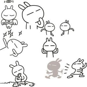 表情 简笔画表情包流氓兔 流氓兔简笔画大全可爱 流氓兔表情 兔子简笔画 奇奇下载网 表情