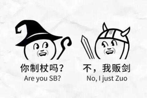 表情 安 es 你制杖吗 不,我贩剑 Are you SB No,I just Zuo 表情图片