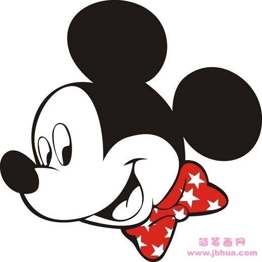 表情 儿童米老鼠头像简笔画图片 简笔画网 表情