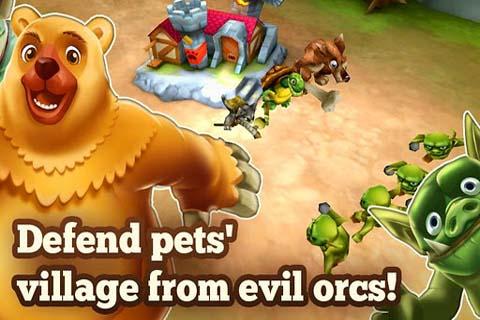 游戏特色: 建立活泼可爱宠物村 丰富多彩的三维图形 培养猫,狗,乌龟