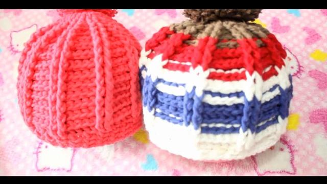 宝宝专题韩版多色儿童帽子的钩法织法教程全集