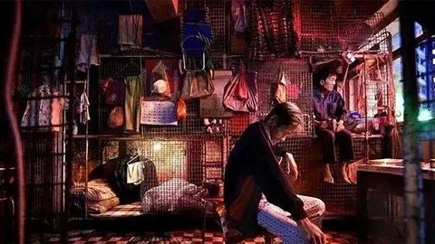 香港穷人只能住在笼子里