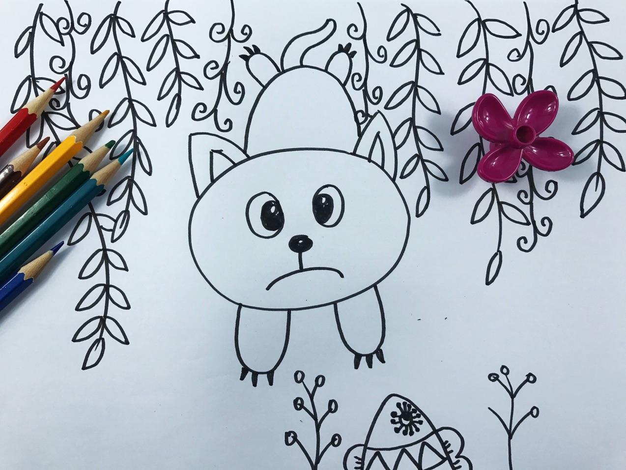简笔画教程之小猫咪