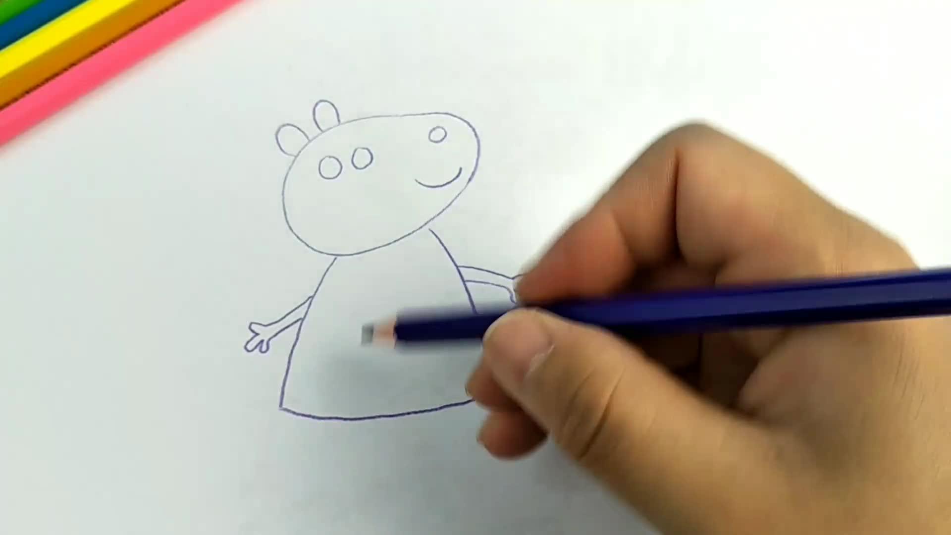 简笔画小猪佩琪好朋友苏西
