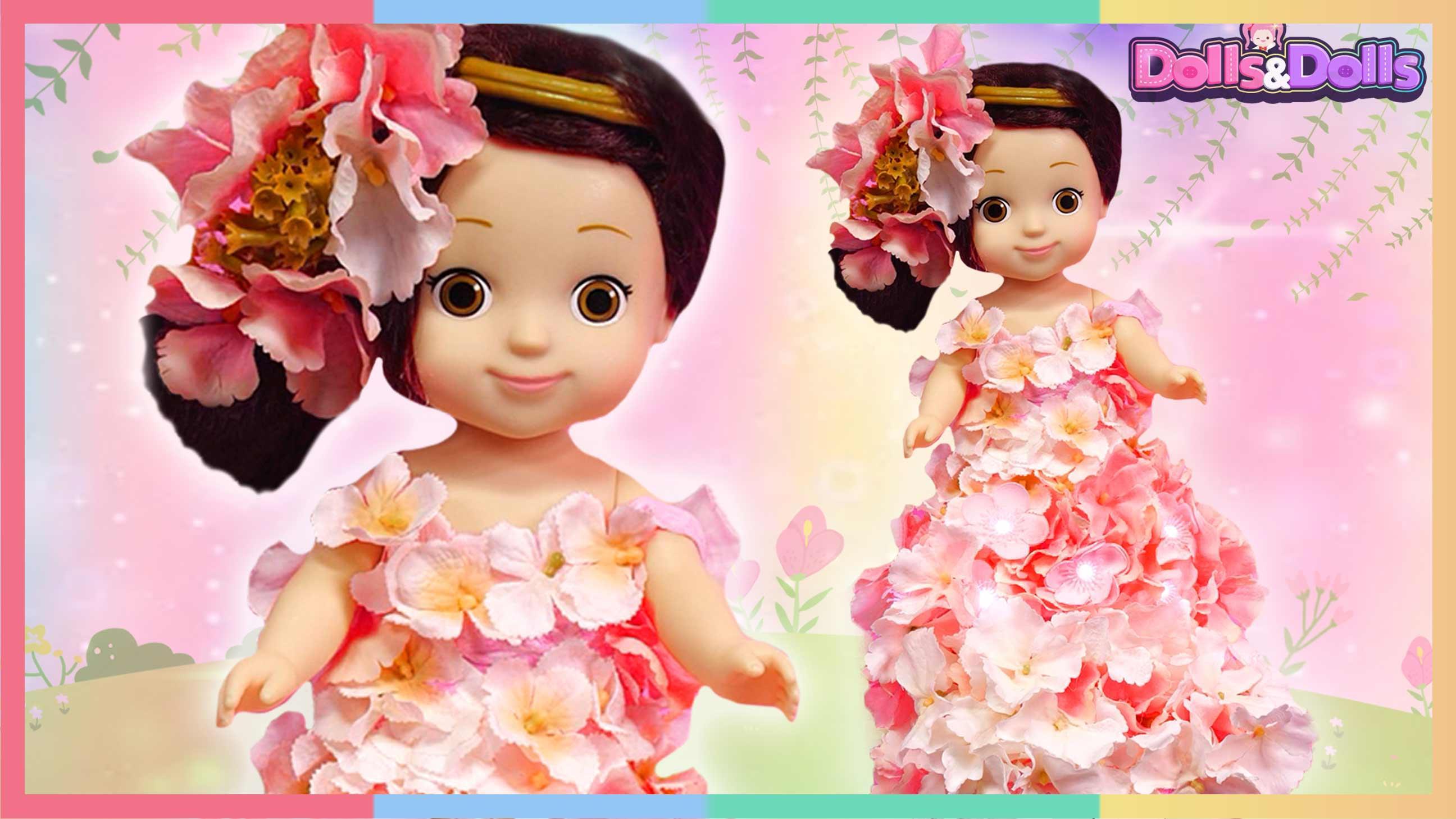 手工DIY浪漫樱花树下的凯利公主娃娃 | 凯利和玩具朋友们 CarrieAndToys
