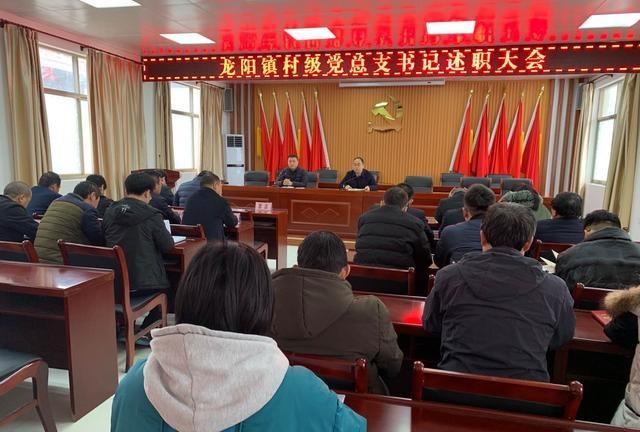 dnf私服下载平台蒲城县龙阳镇召开2019年村级党总支书记述职大会