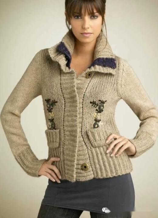 「針織作品」40款流行的套頭衫和開衫的編織花樣