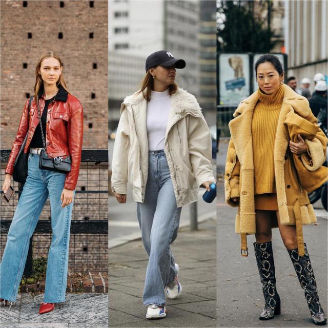 普通外套已經失寵瞭,今年流行羊羔領外套,這麼搭配不要太時髦