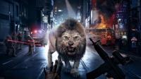 人狮对峙上演生死对决