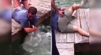 小伙睡倒徒手捕鱼反被套路 网友:终于知道外国人为什么少了