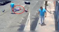 监拍:宠物狗街头冲突 女主人遭200斤壮汉袭击 肩膀脱臼