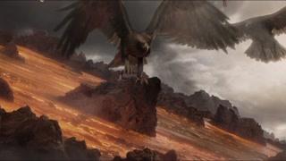 甘道夫带着老鹰前来救人 佛罗多看起来就快要断气了
