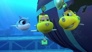 潜艇总动员:海底两万里:海怪毁坏商船 阿力准备追踪海怪