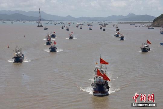 """浙江舟山千艘漁船""""解禁""""開捕"""