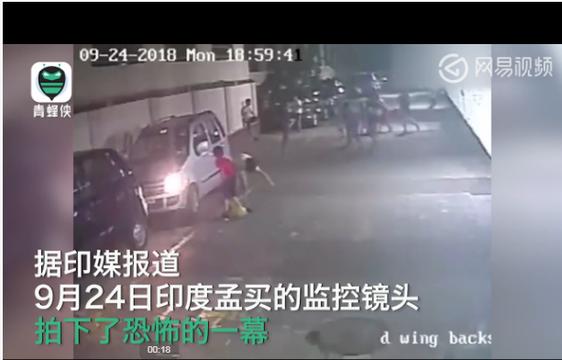 男孩系鞋帶遭女司機恐怖碾壓 竟然毫發未損