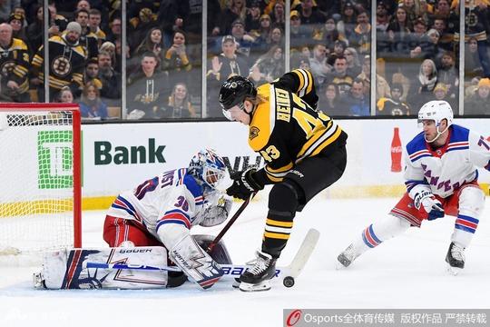 NHL波士顿棕熊2:3纽约游骑兵