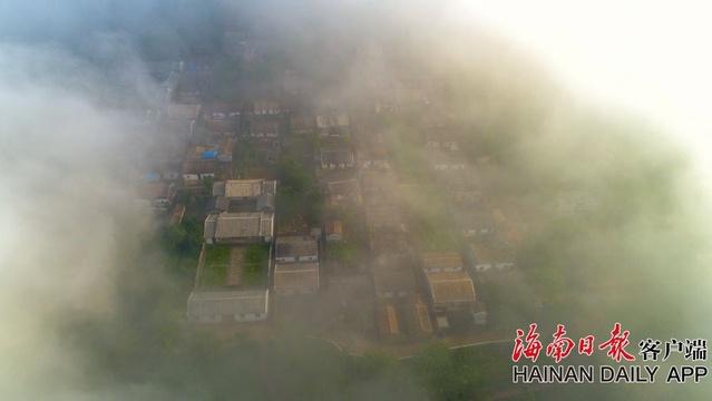 云端瞰定安中國歷史文化名村 宛如仙境