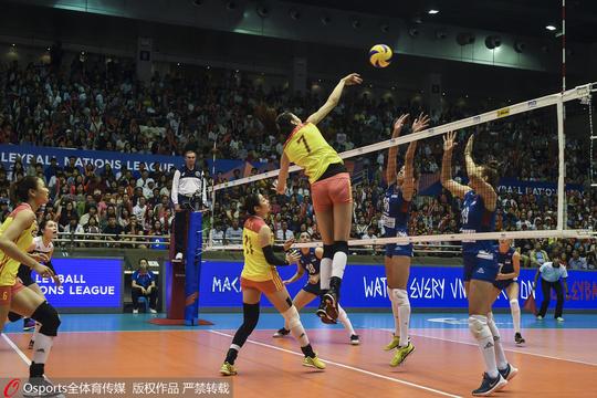 澳门站中国女排1-3不敌塞尔维亚