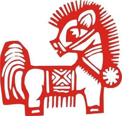 剪纸中的马