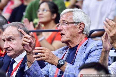 里皮现场观战男篮世界杯