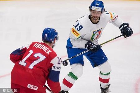2019男子冰球世锦赛小组赛B组:捷克Vs意大利