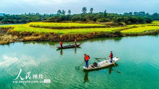 江西峡江:清理河道 守护美丽家园