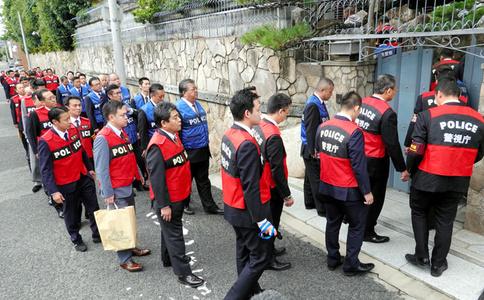 日本山口组总部被警察包围搜查