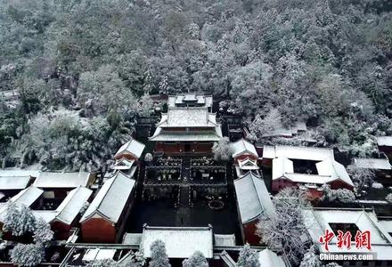 武当山雪景美如画