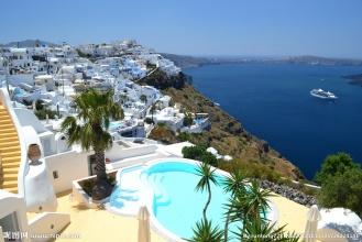 希腊海边风景摄影图 国外旅游