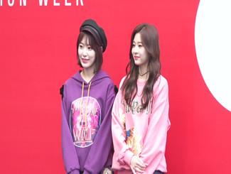 PRODUCE48后再聚首 �m� �D良李佳恩现身时装周
