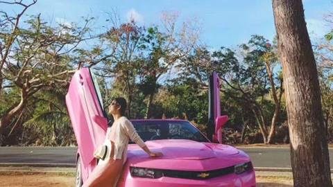 初探懒人天堂塞班岛,喜提梦幻粉色敞篷跑车