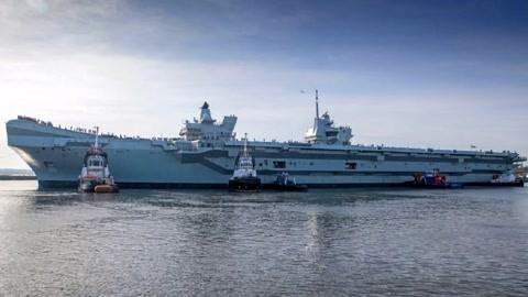 英国第2艘航母即将海试