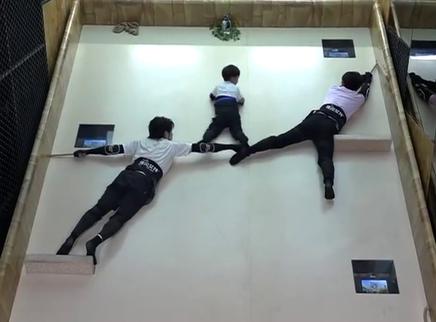 高天鹤武艺上演人桥战术